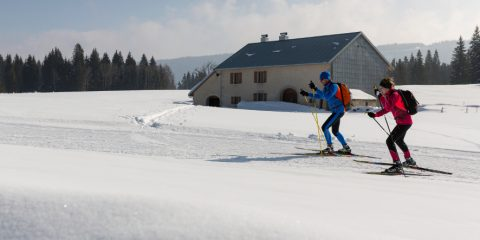 11/03/2016 - CHAPELLE DES BOIS - DOUBS - FRANCE -  Ski de fond a Chapelle des Bois            - Photo Laurent CHEVIET©