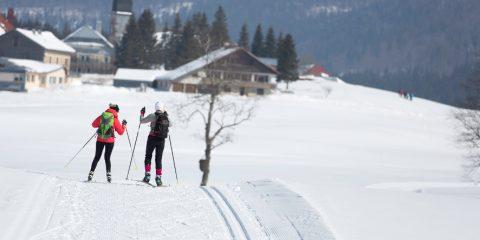 11/03/2016 - CHAPELLE DES BOIS - DOUBS - FRANCE -  Ski de fond a Chapelle des Bois            - Photo Laurent CHEVIET©